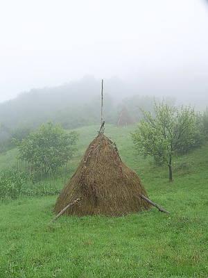 Photograph - Haystack Morning Fog by Tamyra Crossley