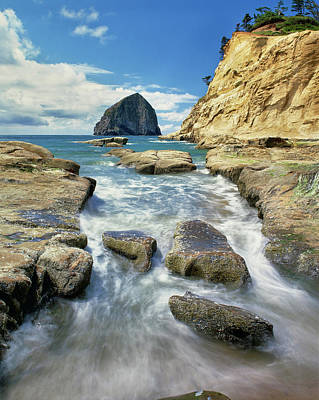 State Parks In Oregon Photograph - Haystack Rock At Cape Kiawanda State by Panoramic Images