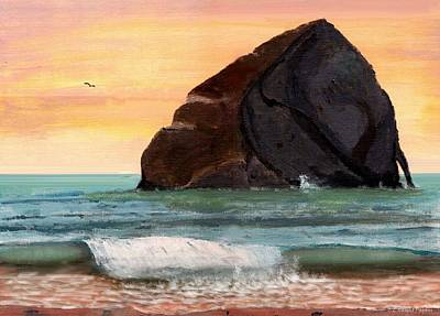 Haystack Rock At Kiwanda Art Print