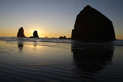 Peter Iredale Photograph - Haystack Rock by George Herbert