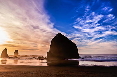 Photograph - Haystack Sunset by Joseph Bowman