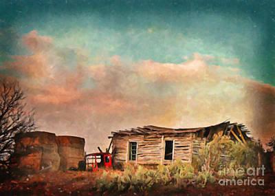 Rural Decay Digital Art - Haystacks And Windows by Janice Rae Pariza