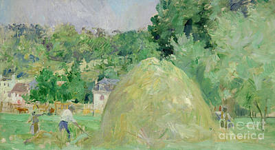 Haystacks At Bougival Art Print