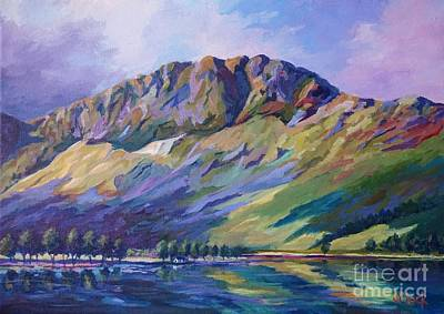 Acrylics Painting - Haystacks  Buttermere by John Clark