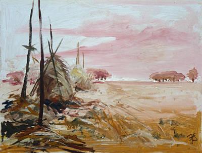 Painting - Haystacks  by Irek Szelag