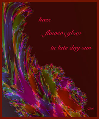Digital Art - Haze Haiga by Judi Suni Hall
