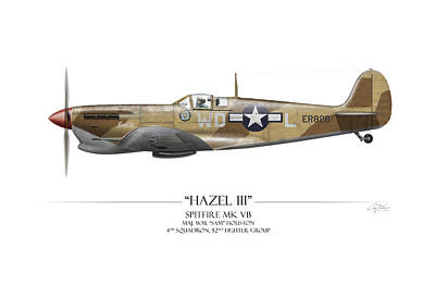 Craig Digital Art - Hazel IIi Spitfire Mkv by Craig Tinder