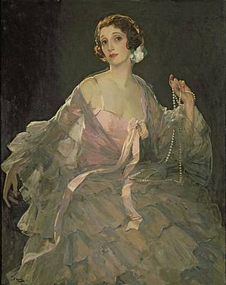 Hazel In Rose And Grey, 1922 Oil On Canvas Art Print by Sir John Lavery