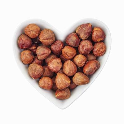 Healthy Eating Photograph - Hazelnuts by Geoff Kidd