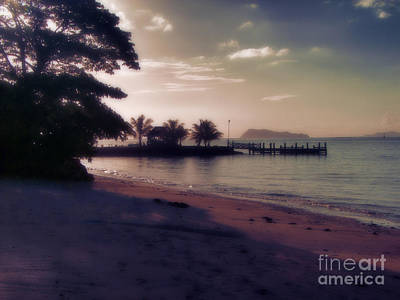 Photograph - Hazey Samoan Sunset by Karen Lewis