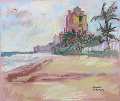 Painting - Hazy Beach by Linda Novick