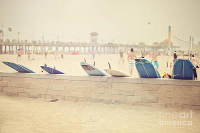 Hazy Day At The Beach Art Print by Susan Gary