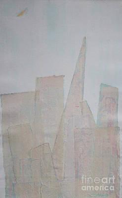 Hazy Fog Clearing Over San Francisco Art Print