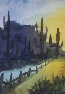 Hazy Mesas Art Print by Ellen Levinson