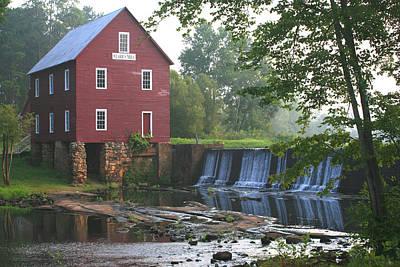 Days Go By Digital Art - Hazy Morn At Starr's Mill by Pam Wood Ellis