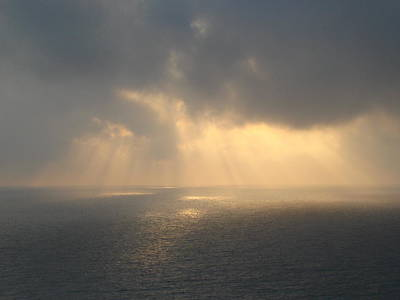 Photograph - Hazy Morning Light Breaking Though Lighting Up The Emerald Coast by Jennifer E Doll
