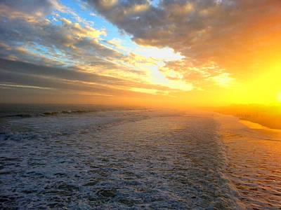 Hazy Oceanic Sunset Art Print