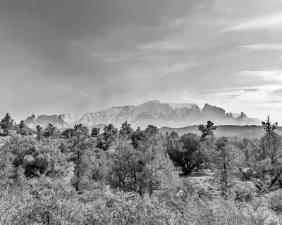 Sedona Photograph - Hazy Sedona Bluffs by Chris Bordeleau