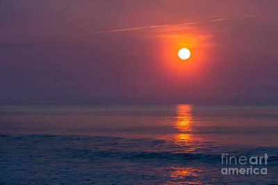 Photograph - Hazy Sunrise Iv by Gene Berkenbile