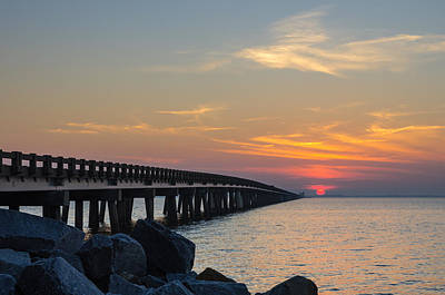 Art Print featuring the photograph Hazy Sunset by Gregg Southard