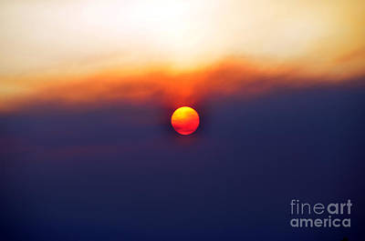 Photograph - Hazy Sunset In Yellowstone by Debra Thompson