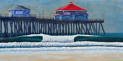 Painting - Hb Pier by Nathan Ledyard