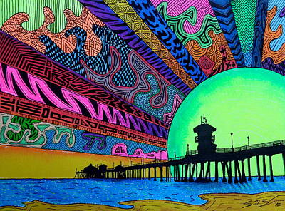 Huntington Painting - Hbdazzle by Sam Bernal