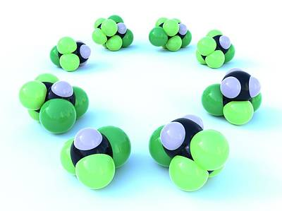 Molecular Structure Photograph - Hcfc Molecular Structures by Indigo Molecular Images