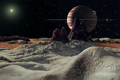 Planet System Painting - Hd 168443 System by Lynette Cook