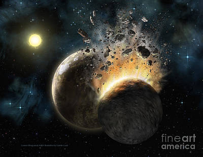 Planet System Painting - Hd 23514 by Lynette Cook
