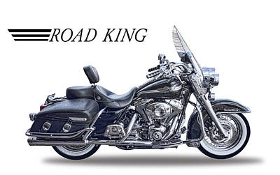 Highway Digital Art - H D Road King by Daniel Hagerman