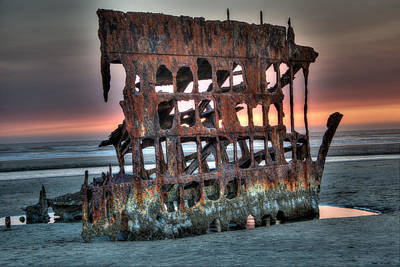 Photograph - Hdr Peter Iredale by James Hammond