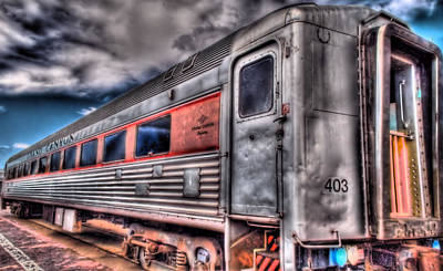 Hdr Train Art Print by DH Visions Photography