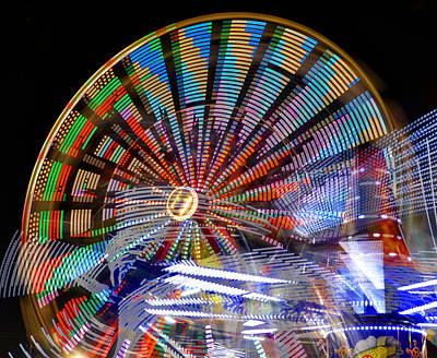 Photograph - Ferris Wheel Hdr Work X by David Lee Thompson