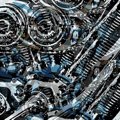 Abstract V-twin Art Print