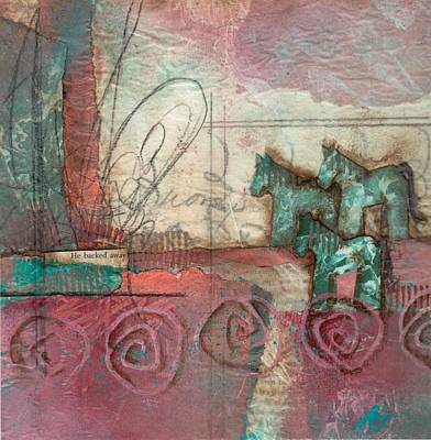 Swirls Mixed Media - He Backed Away  by Laura  Lein-Svencner