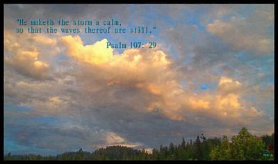 He Calms The Storm Art Print by Glenn McCarthy Art and Photography