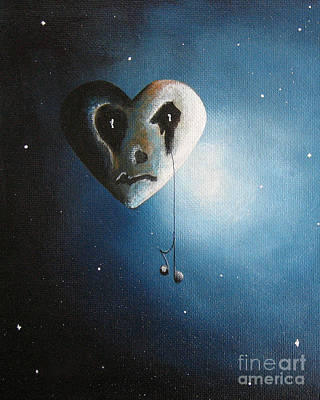Gothic Art Painting - He Cried A Song For You Today By Shawna Erback by Shawna Erback