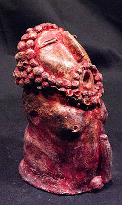Fertility Sculpture - He Garnet by Mark M  Mellon