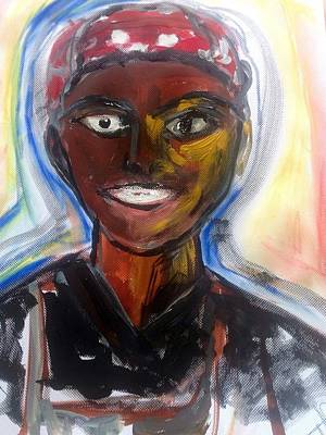 Kendo Wall Art - Painting - He Gave Her His Best Smile  by Judith Desrosiers