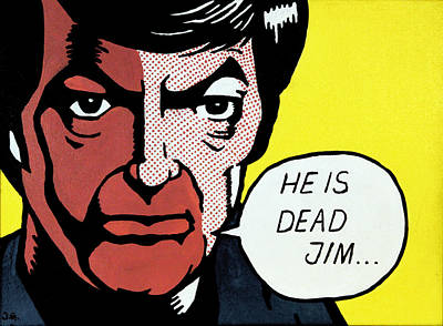 Mccoy Painting - He Is Dead Jim by Judith Groeger