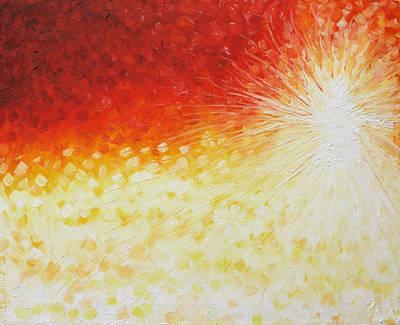 He Is Here Art Print by Sandra Yegiazaryan