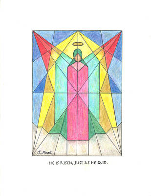 Drawing - He Is Risen by Carol Neal