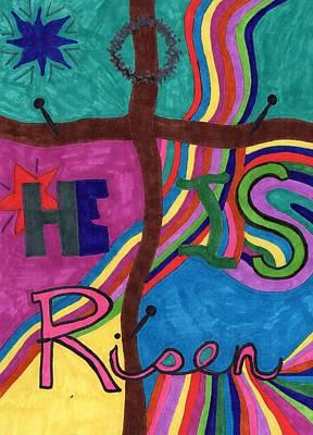 He Is Risen Original by Jennifer Pierson