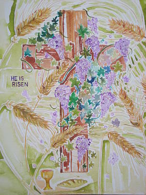 Christian Painting - He Is Risen by Rachael Pragnell