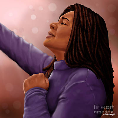 African-american Digital Art - He Is Worthy Of The Praise by Josh Kennedy