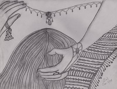 Caress Drawing - He Kissed by Barbara St Jean