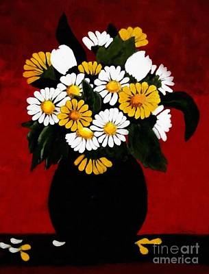He Loves Me... Art Print by Barbara Griffin
