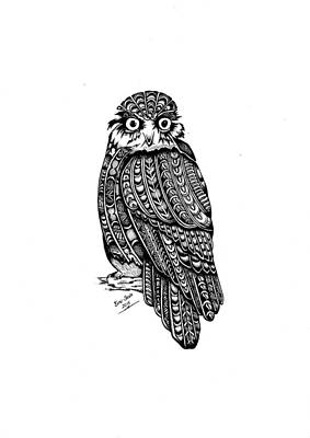 He Ruru..the Morepork Owl Original by Bino Smith