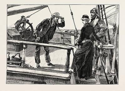 H Drew Drawing - He Seized The Brim Of His Hat by Overend, William Heysham (1851-1898), British